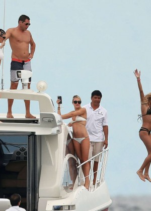 Kylie, Kendall Jenner and Hailey Baldwin: Bikini Candids at Yacht in Mexico-54