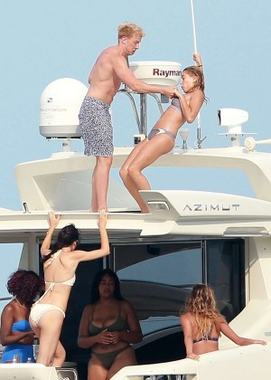 Kylie, Kendall Jenner and Hailey Baldwin: Bikini Candids at Yacht in Mexico-58