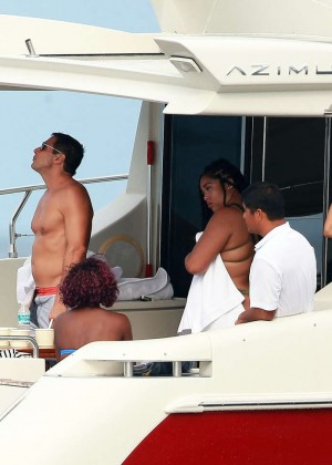 Kylie, Kendall Jenner and Hailey Baldwin: Bikini Candids at Yacht in Mexico-64