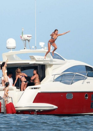 Kylie, Kendall Jenner and Hailey Baldwin: Bikini Candids at Yacht in Mexico-65