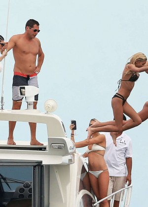 Kylie, Kendall Jenner and Hailey Baldwin: Bikini Candids at Yacht in Mexico-75
