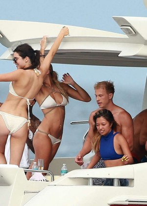 Kylie, Kendall Jenner and Hailey Baldwin: Bikini Candids at Yacht in Mexico-76