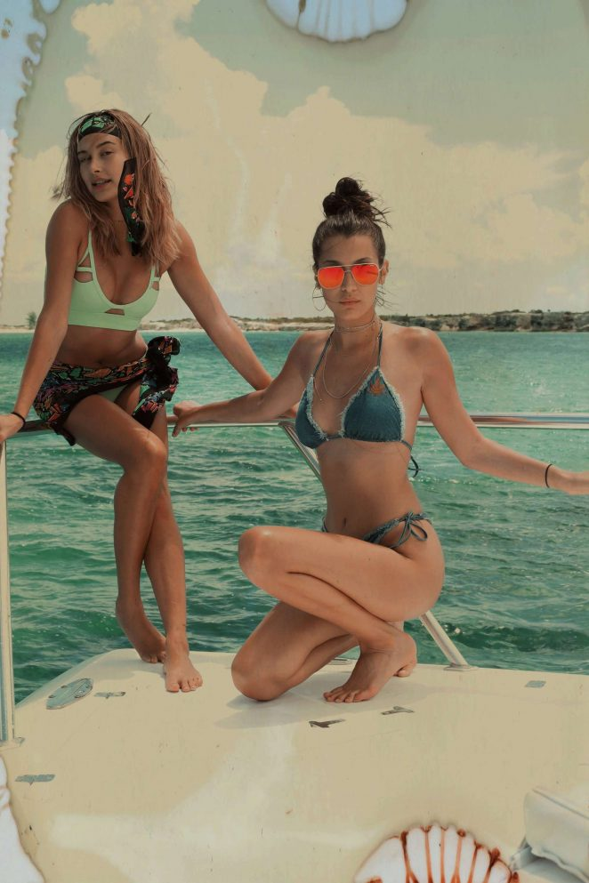 Kylie, Kendall Jenner, Hailey Baldwin and Bella Hadid: In Bikini for Renell Medrano photo diary-39