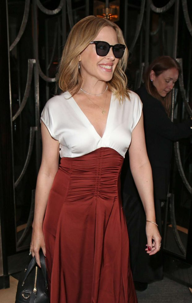 Kylie Minogue - Arrives at Claridge's Hotel in London