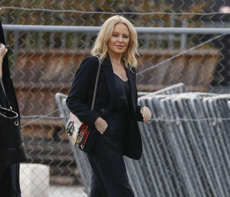Kylie Minogue 2021 : Kylie Minogue – arrives at Risk Sound Recording Studios in Port Melbourne-06