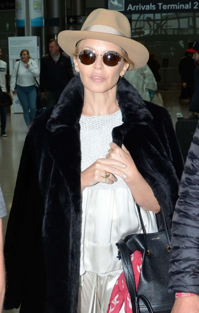 Kylie Minogue - Arriving at Dublin Airport