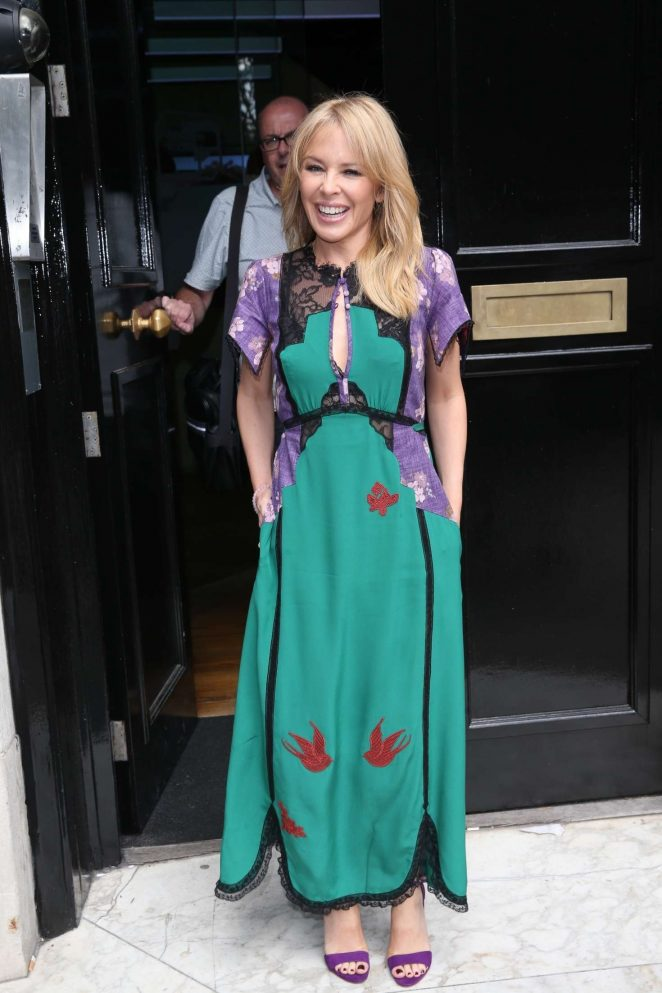 Kylie Minogue - Arriving at the BBC Radio Studios in London