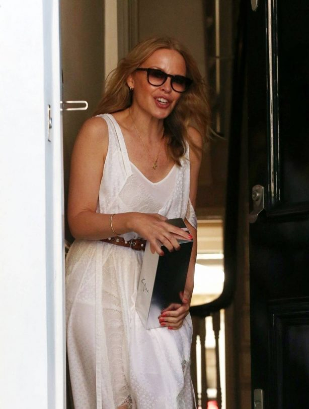 Kylie Minogue - At her Home in London