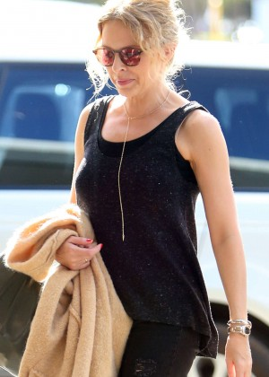 Kylie Minogue at Perth Domestic Airport in Western Australia