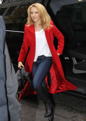 Kylie Minogue at The BBC Radio 2 Studios in London