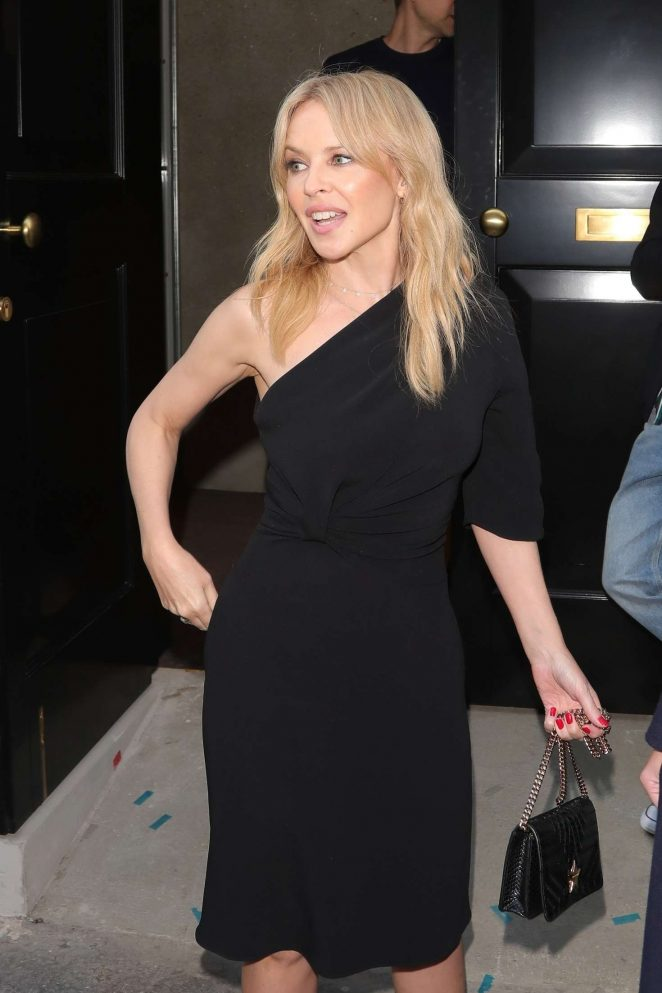 Kylie Minogue at the Stella McCartney store on Bond St in London