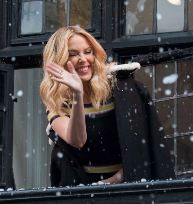 Kylie Minogue - Excited For Liberty London 2015 Holiday Windows Unveiled Ceremony