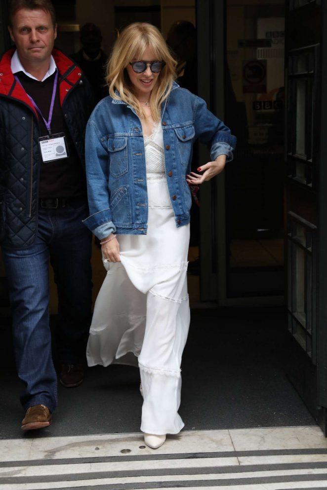 Kylie Minogue – Exits the BBC Radio Studios in London
