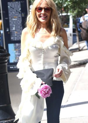 Kylie Minogue - Heads for her concert at The Bowery Ballroom in New York