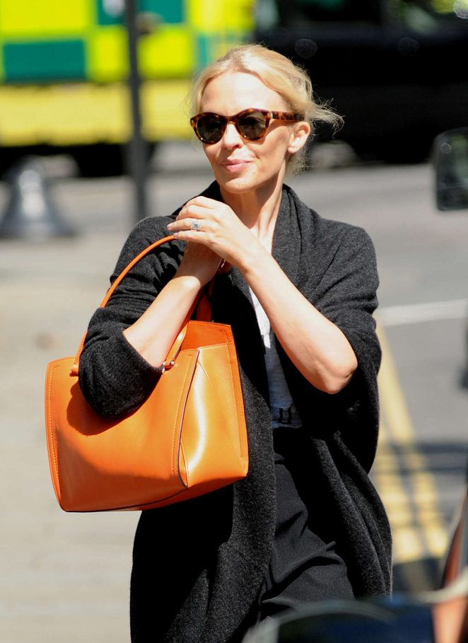Kylie Minogue in Black Out in London -02