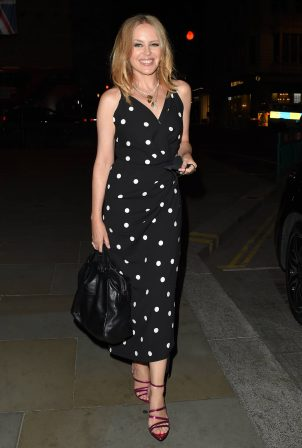 Kylie Minogue - In black polka dot dress at The Ritz Hotel in London