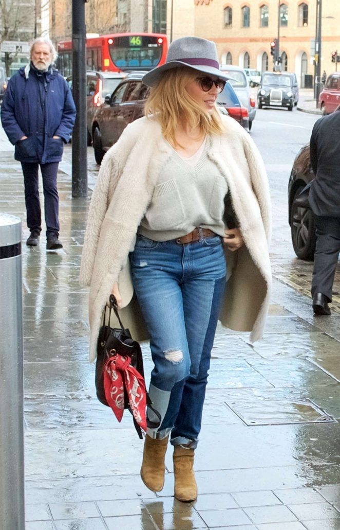 Kylie Minogue in Jeans at Eurostar in London