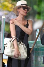 Kylie Minogue in Long Black Dress - Out in Notting Hill
