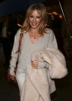 Kylie Minogue - Leaves her Hotel in Paris