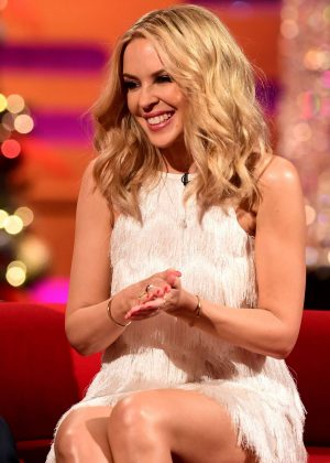 Kylie Minogue on Graham Norton Show in London
