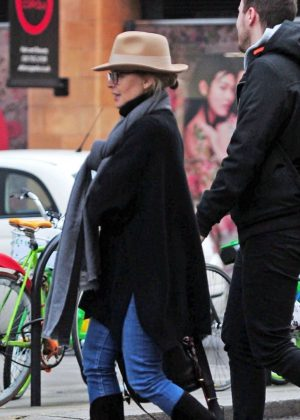 Kylie Minogue on the Fulham Road in London