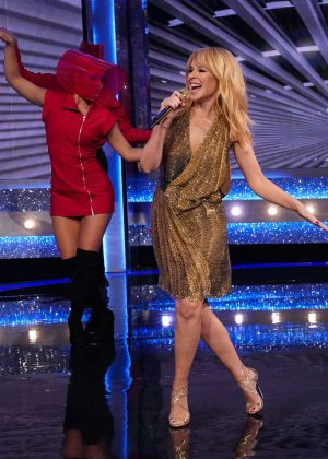 Kylie Minogue - Performs on Saturday Night Takeaway in London