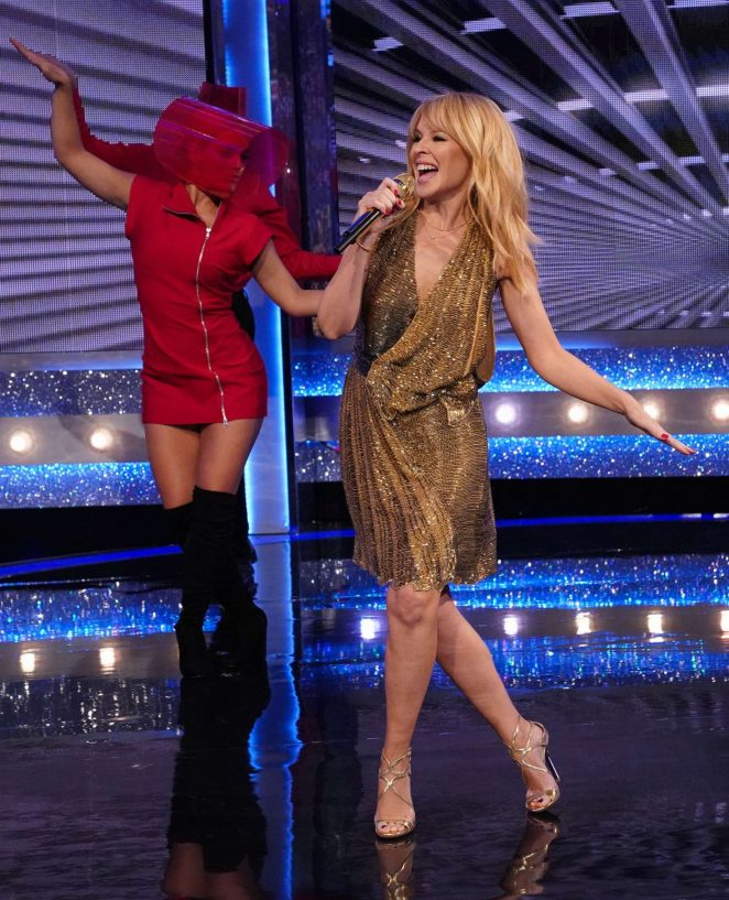 Kylie Minogue - Performs on Saturday Night Takeaway in London