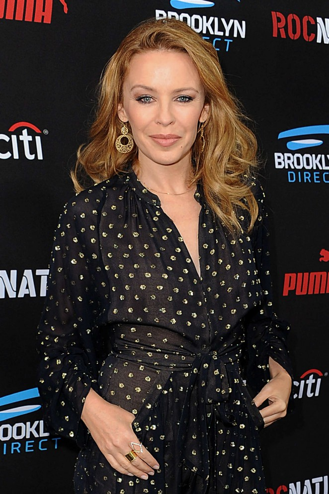 Kylie Minogue – Roc Nation Grammy Brunch 2015 in Beverly Hills