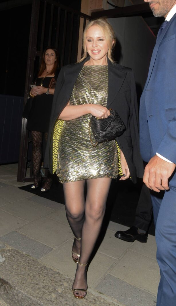 Kylie Minogue - Seen at the Versace x Frieze event at Toklas Restaurant in London
