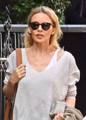 Kylie Minogue - Seen Leaving a Hotel in London