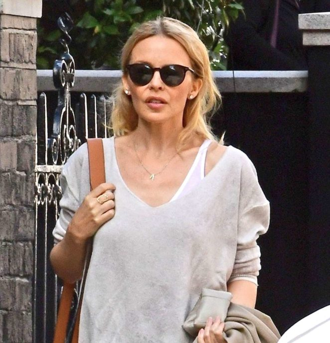 Kylie Minogue – Seen Leaving a Hotel in London