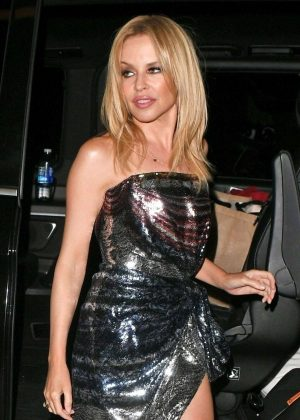 Kylie Minogue - Swwn leaving the The London Palladium