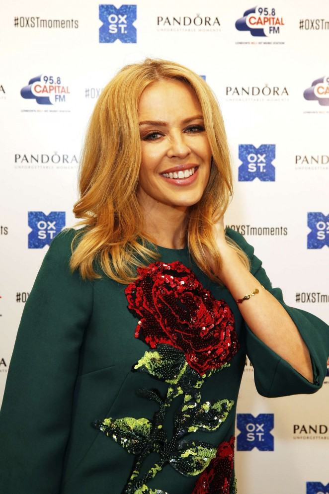 Kylie Minogue: The World Famous Oxford Street Christmas Lights Switch On Event -03