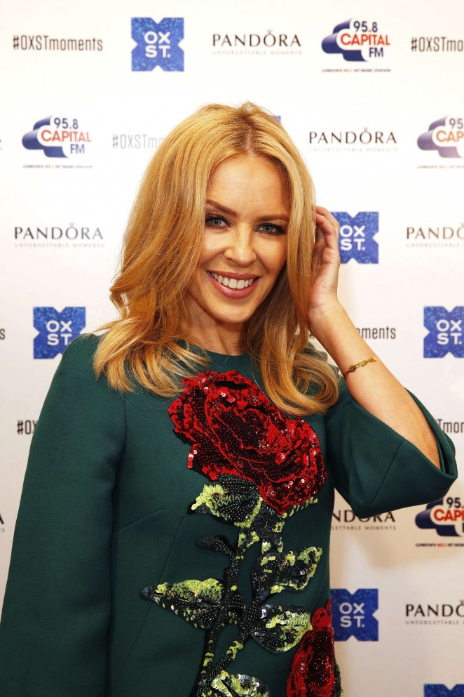 Kylie Minogue: The World Famous Oxford Street Christmas Lights Switch On Event -05