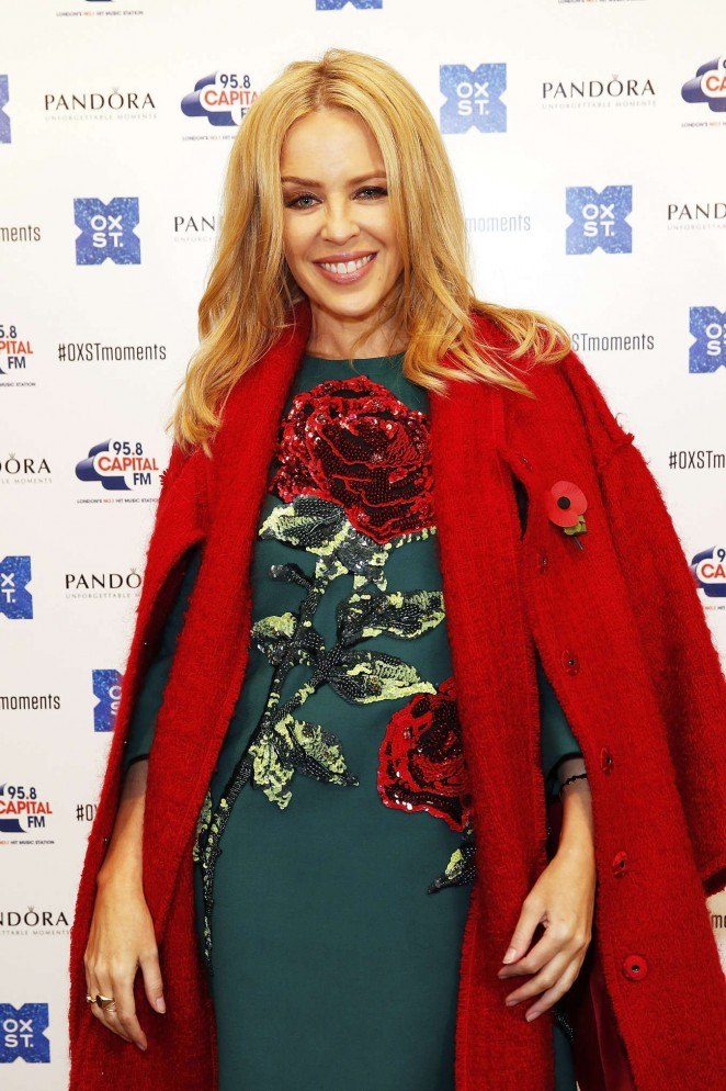 Kylie Minogue: The World Famous Oxford Street Christmas Lights Switch On Event -06