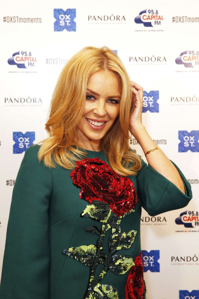 Kylie Minogue: The World Famous Oxford Street Christmas Lights Switch On Event -07