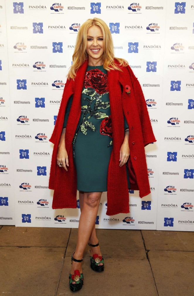 Kylie Minogue: The World Famous Oxford Street Christmas Lights Switch On Event -12