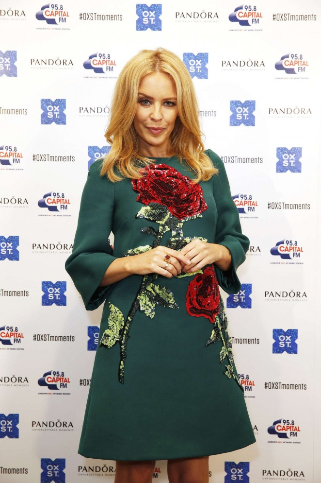 Kylie Minogue: The World Famous Oxford Street Christmas Lights Switch On Event -15