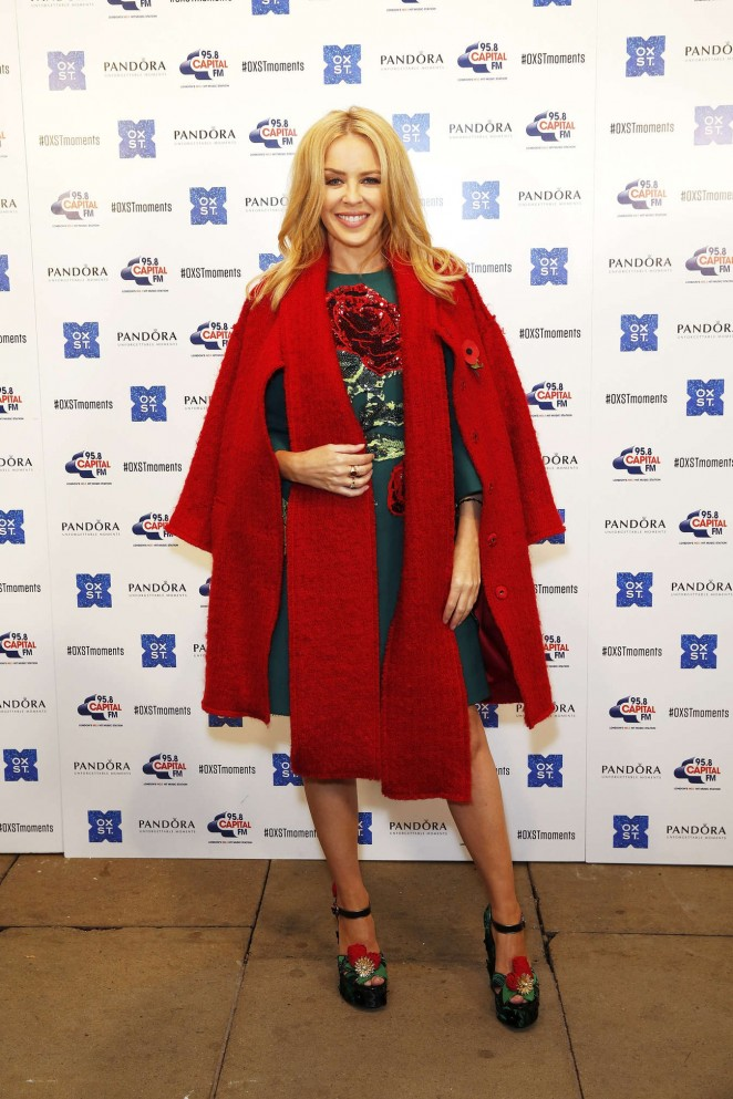 Kylie Minogue: The World Famous Oxford Street Christmas Lights Switch On Event -17