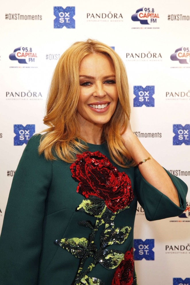 Kylie Minogue: The World Famous Oxford Street Christmas Lights Switch On Event -18