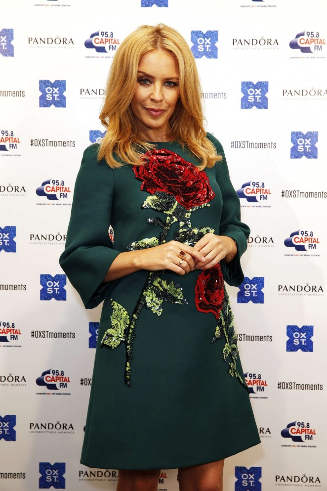 Kylie Minogue - The World Famous Oxford Street Christmas Lights Switch On Event in London