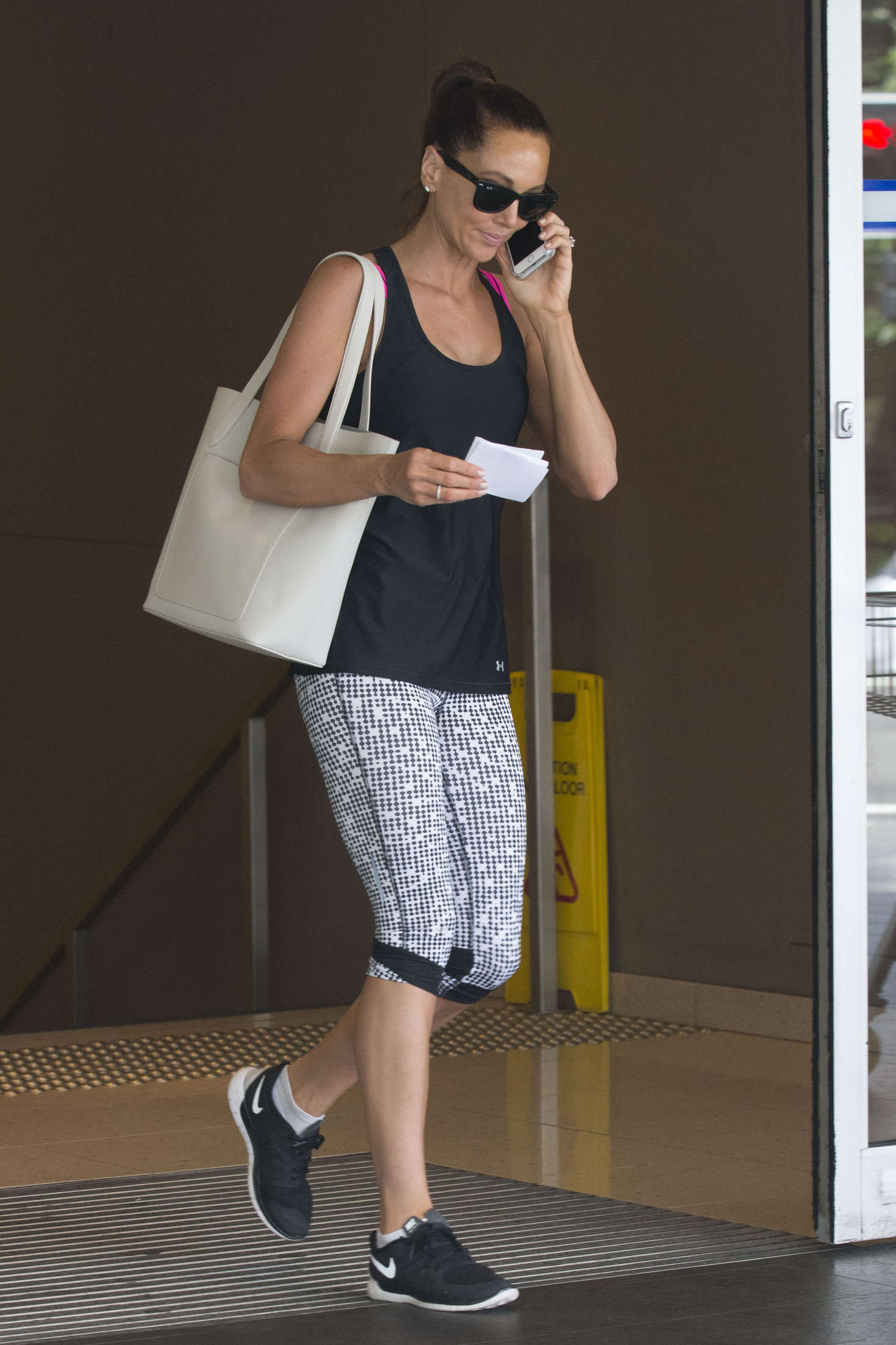 Kyly Clarke in Tights at pilates class in Sydney