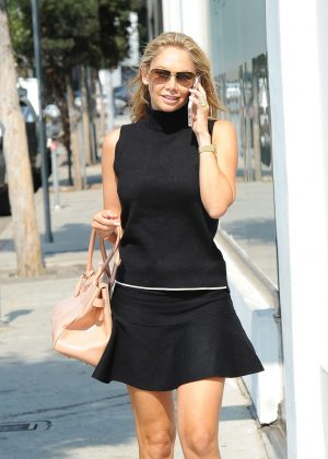 Kym Johnson in Mini Dress out in Los Angeles