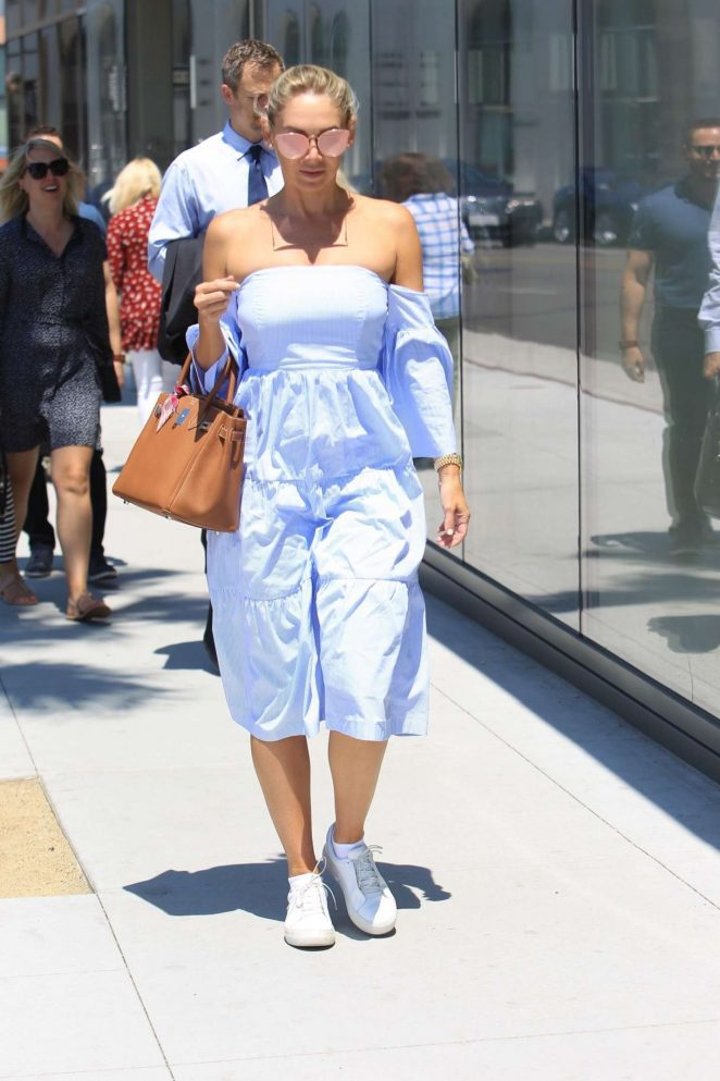 Kym Johnson - Shopping in Beverly Hills