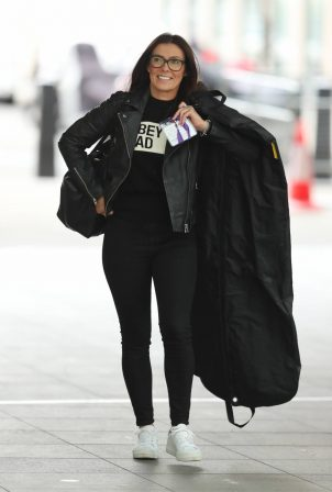 Kym Marsh - Arriving at the BBC studios in London