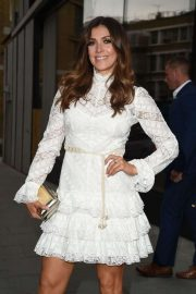 Kym Marsh - In a white dress attending the ITV Summer Party 2019 in London