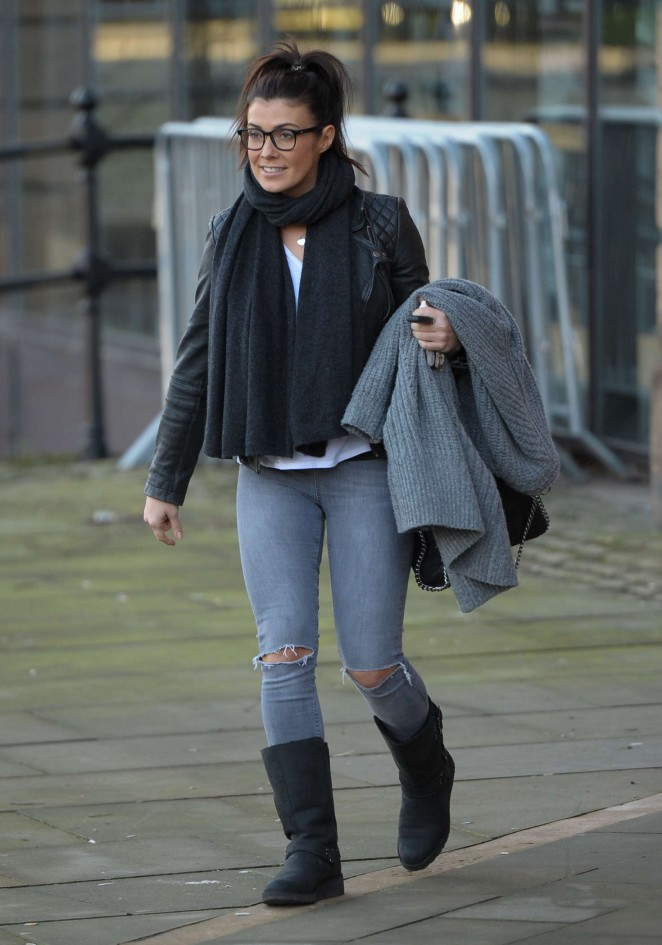 Kym Marsh in Jeans out in Manchester