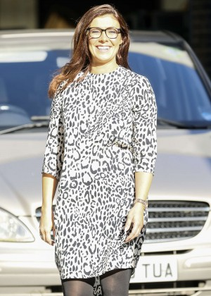 Kym Marsh in Mini Dress at ITV Studios in London