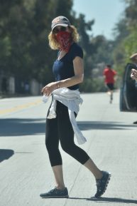 Kyra Sedgwick - Goes for a walk with in Silverlake