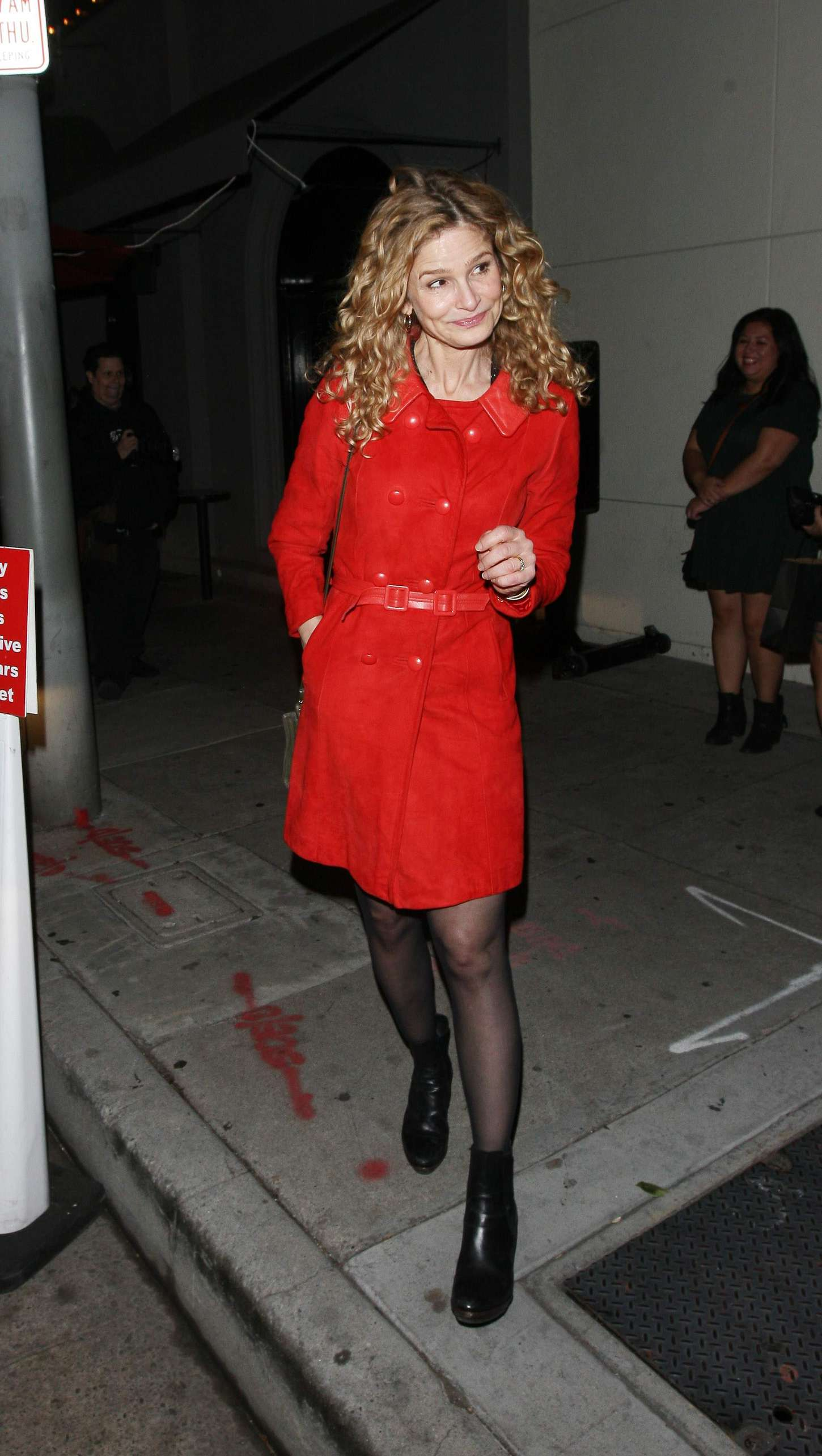Kyra Sedgwick - Leaves Craig's Restaurant in West Hollywood